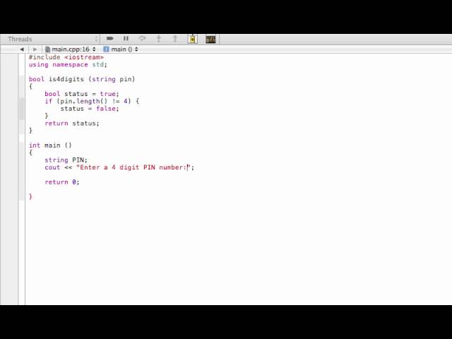 Boolean function example (C++ programming tutorial)