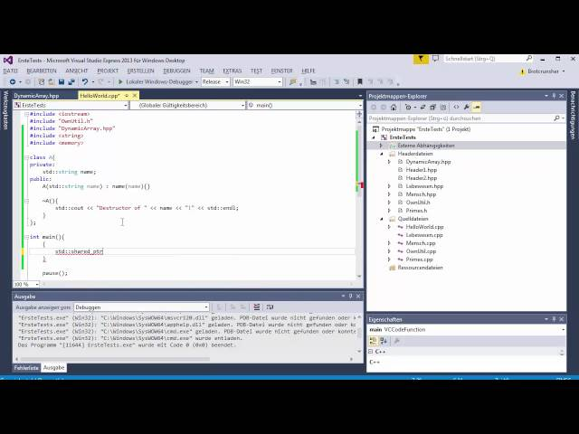 C++ Tutorial [104] – Smart Pointer: shared_ptr GERMAN