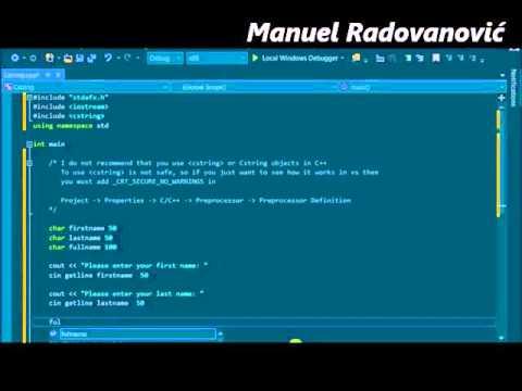 C++ Tutorial – 16. Standard Library – Cstring