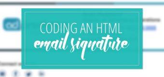 Coding a Custom HTML Email Signature Timelapse