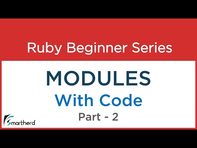 #28 Ruby Tutorial: Module with Class in Ruby