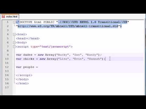 Beginner JavaScript Tutorial – 30 – Array Properties and Methods