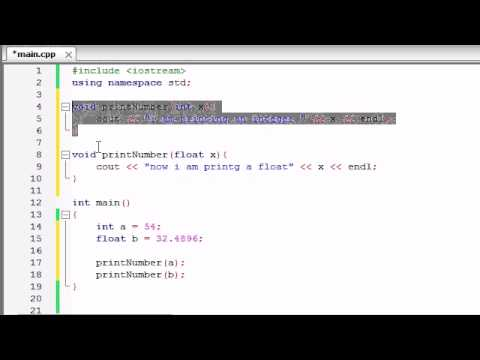 Buckys C++ Programming Tutorials – 30 – Function Overloading