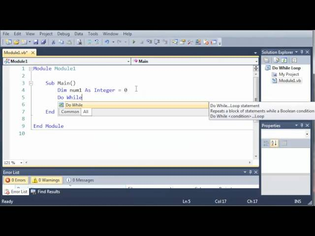Visual Basic Tutorial – 31 – Do While Loop