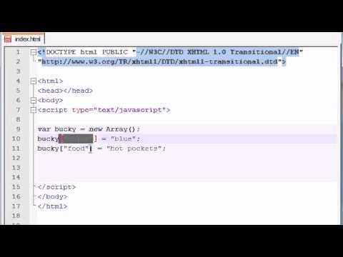Beginner JavaScript Tutorial – 35 – Associative Arrays