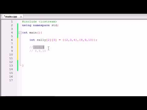 Buckys C++ Programming Tutorials – 36 – Multidimensional Arrays