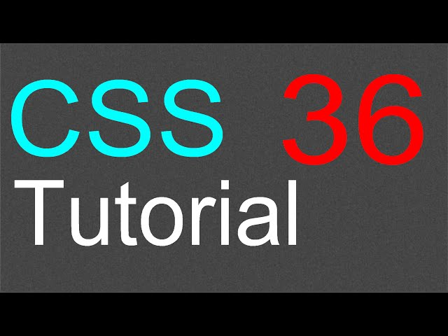 CSS Tutorial for Beginners – 36 – The overflow property