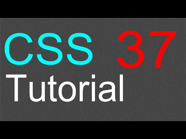 CSS Tutorial for Beginners – 37 – The cursor property