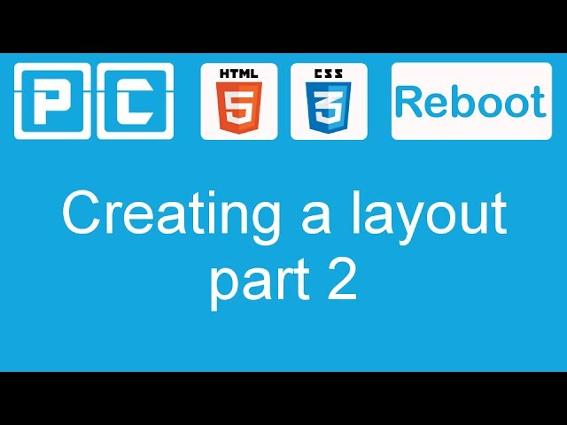 HTML5 and CSS3 beginners tutorial 35 – creating a website layout [part 2]