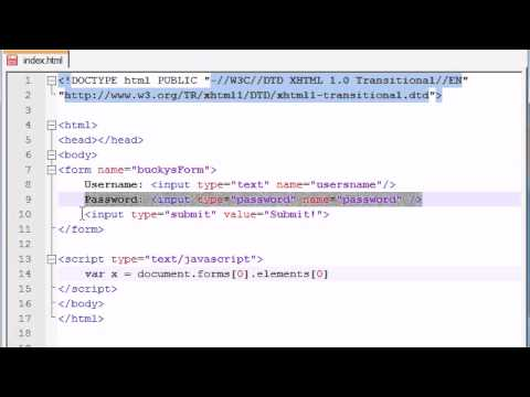 Beginner JavaScript Tutorial – 39 – Accessing Form Elements