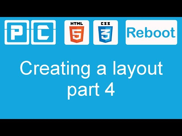 HTML5 and CSS3 beginners tutorial 37 – creating a website layout [part 4]