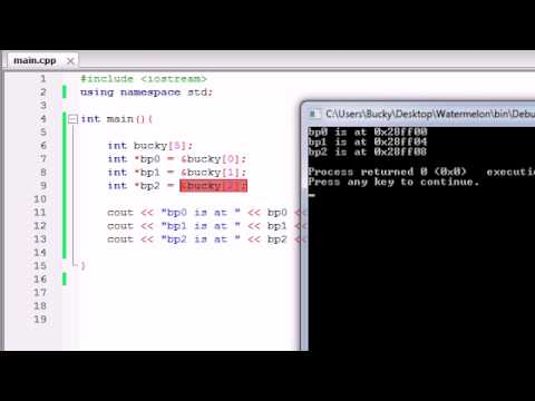 Buckys C++ Programming Tutorials – 41 – Pointers and Math