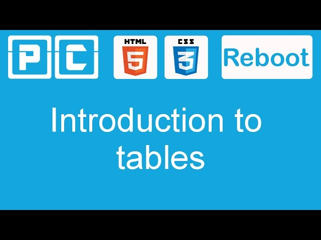 HTML5 and CSS3 beginners tutorial 41 – introduction to tables
