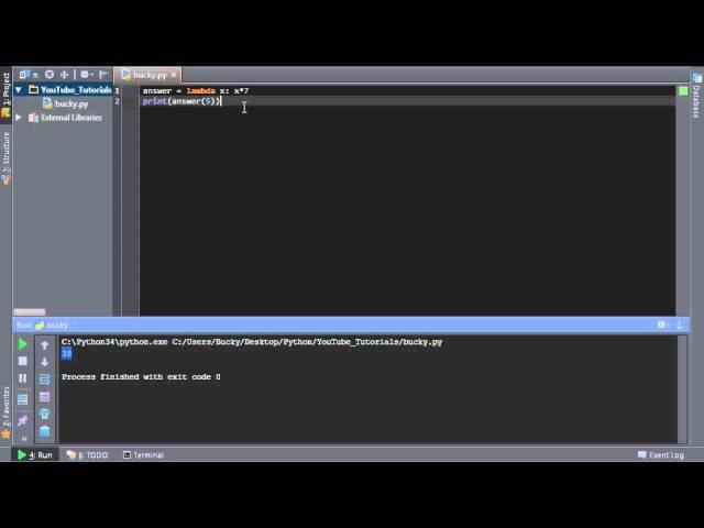 Python Programming Tutorial – 40 – Lamdba