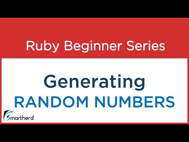 #42 Ruby Tutorial : Random Numbers