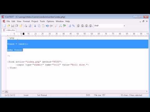 Beginner PHP Tutorial – 60 – Random Number Generation