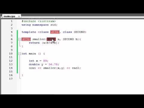 Buckys C++ Programming Tutorials – 59 – function Templates with Multiple Parameters