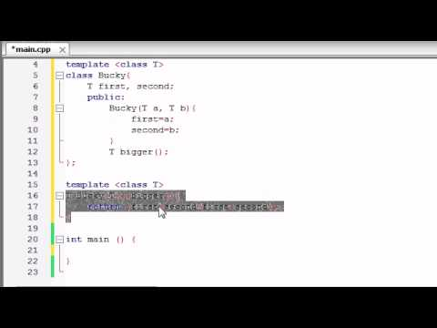 Buckys C++ Programming Tutorials – 60 – class Templates