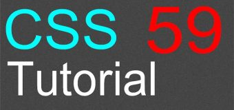 CSS Tutorial for Beginners – 59 – text shadow