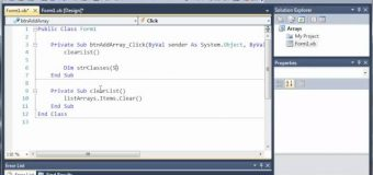 Visual Basic Tutorial – 59 – Introduction To Arrays