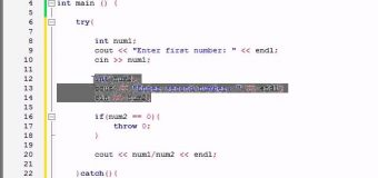 Buckys C++ Programming Tutorials – 63 – More Exceptions Examples