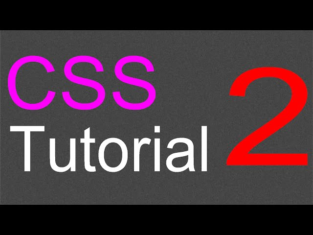 CSS Layout Tutorial – 02 – Styling the body