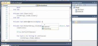 Visual Basic Tutorial – 62 – Passing Arrays As Parameters