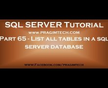 List all tables in a sql server database using a query  Part 65