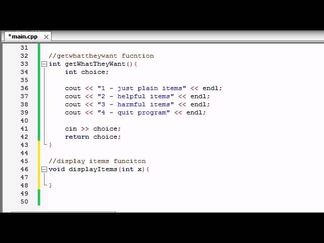 Buckys C++ Programming Tutorials – 69 – Finishing the Awesome Program