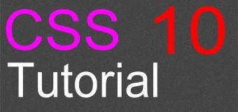 CSS Layout Tutorial – 10 – Organizing the stylesheet