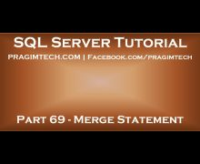 Part 69   Merge in SQL Server