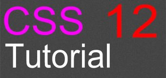 CSS Layout Tutorial – 12 – Finishing the buttons