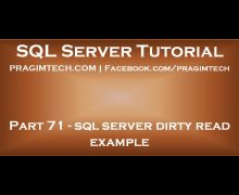 sql server dirty read example