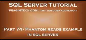 Phantom reads example in sql server