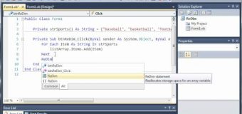Visual Basic Tutorial – 75 – Dynamic Arrays