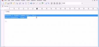 Beginner PHP Tutorial – 77 – File Handling: Writing to a File