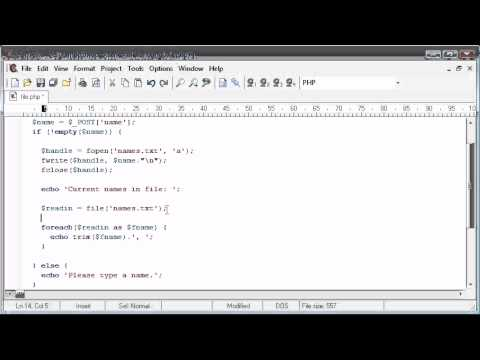 Beginner PHP Tutorial – 78 – File Handling: Reading a File
