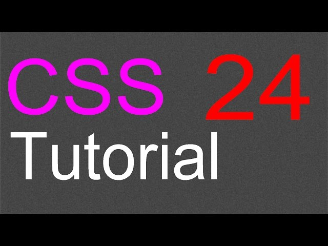 CSS Layout Tutorial – 24 – The next step
