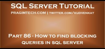 How to find blocking queries in sql server