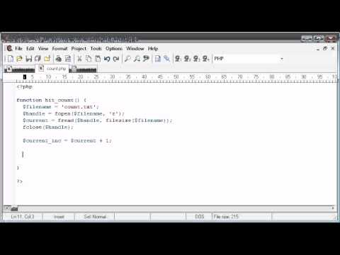 Beginner PHP Tutorial – 92 – Creating a non-unique Hit Counter