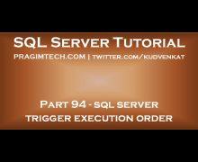 sql server trigger execution order