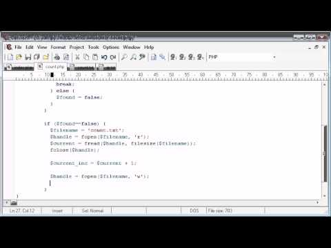 Beginner PHP Tutorial – 95 – Creating a File Based Unique Hit Counter Part 3