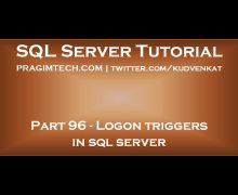 Logon Triggers in SQL Server