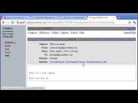 Beginner PHP Tutorial – 99 – Sending an Email Part 2