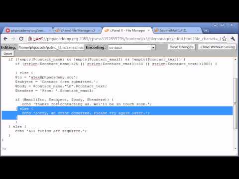 Beginner PHP Tutorial – 103 – Creating a Simple Contact Form Part 4