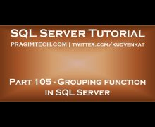 Grouping function in SQL Server