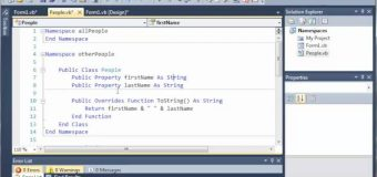 Visual Basic Tutorial – 105 – More On Nested Namespaces