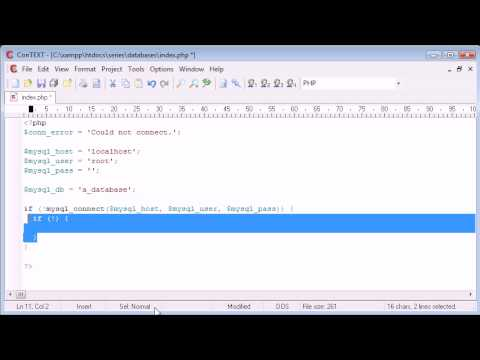 Beginner PHP Tutorial – 114 – Connecting to a Server and Database Part 2