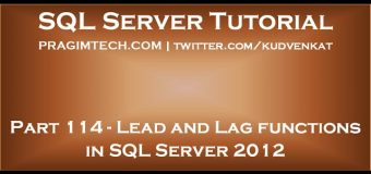 Lead and Lag functions in SQL Server 2012
