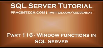 Window functions in SQL Server